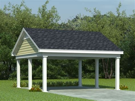 Carport Support Post by Carport Plans Two Car Carport Plan With Support Posts