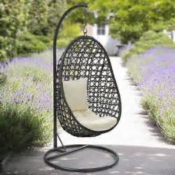 suntime cocoon hanging chair thick cushion garden swinging