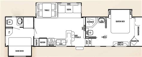 cer trailer floor plans two bedroom travel trailers 2018 athelred com