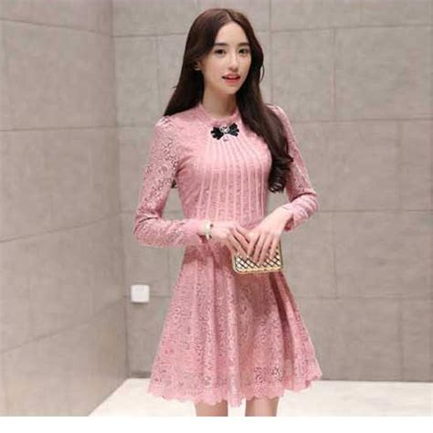 Dress Anak Elegan dress brokat pesta korea modern elegan a2852