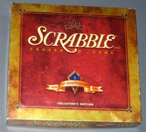 scrabble anniversary sold deluxe scrabble crossword 50th anniversary