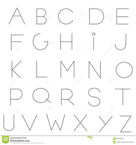 printable dashed letters handwriting dotted line clipart clipart suggest