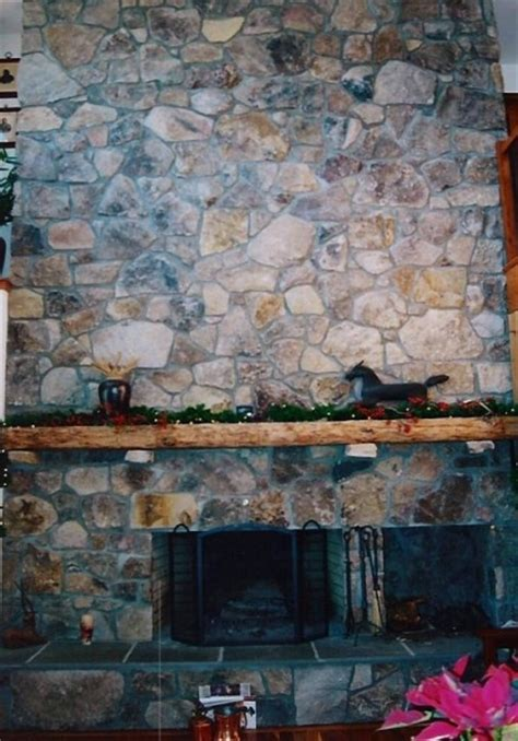 Moss Rock Fireplace by M S Quarries Located In Grantsville Md Has A