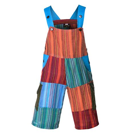 Patchwork Dungarees - colorful om patchwork dungarees harem
