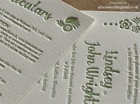 letterpress wedding invitations uk unique letterpress wedding invitations a touchy feely form in weddingland wedding
