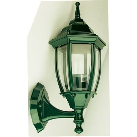 Leaffy Gamis By Oriel highgate up exterior wall light in green zizo