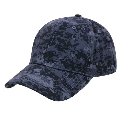 midnite digital camouflage low profile baseball cap