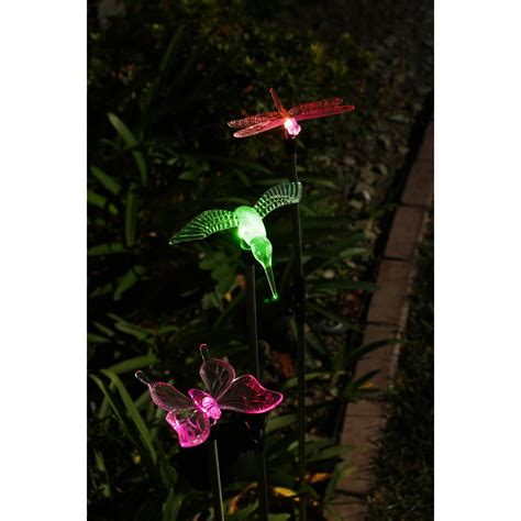 one stop gardens solar light solar decorative led lights 3 pc