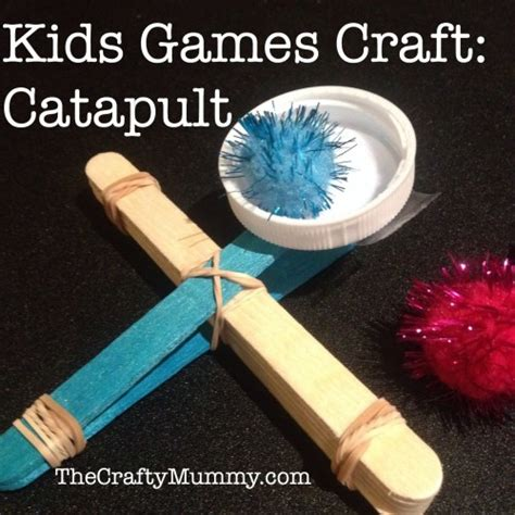 paddle pop stick crafts for craft catapults the crafty mummy