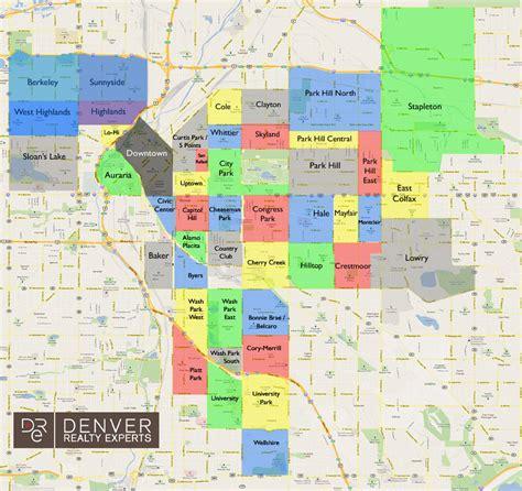 map of denver area denver colorado neighborhood map afputra