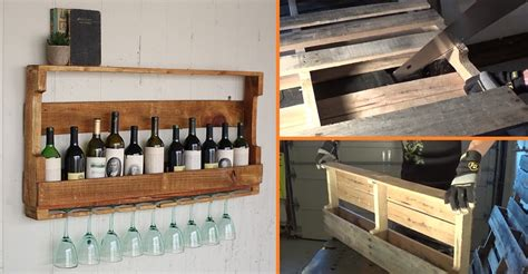 Wine Out Of Upholstery by Diy Wine Rack From A Wood Pallet Home Design Garden
