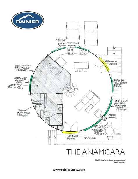 Floor Plan Of Houses Yurt Floor Plans Rainier Yurts Yurts Pinterest