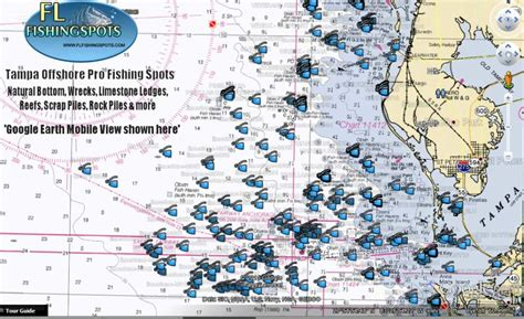 ta bay map ta florida offshore fishing map florida fishing maps for gps