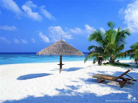 Bay Window Desk by Wallpaper Tropical Beach Wallpaper