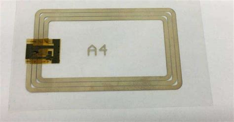plastic 12 bit rfid tag and read out system with screen printed antenna
