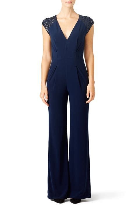 Navy Jumpsuit By Vierra Shop navy ri jumpsuit by heritage for 85 rent the runway