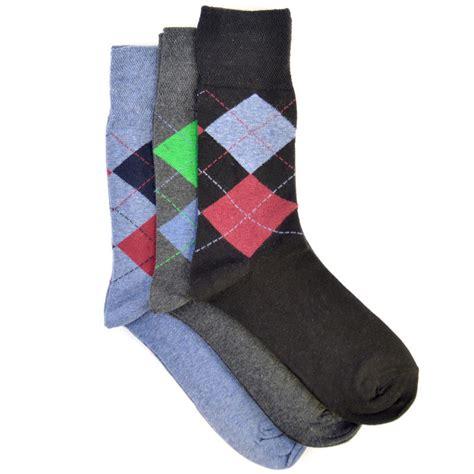 pattern socks uk 3 pack mens cotton rich diamond pattern socks black grey