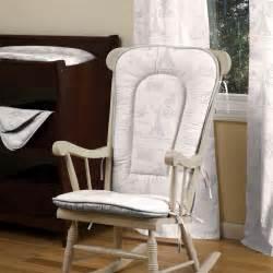 D 233 cor paris script nursery decor paris script rocking chair pad