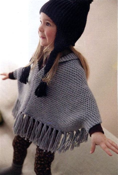 child s poncho knitting pattern garter stitch one knitting patterns in the loop