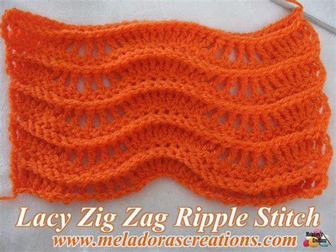 Written Zig Zag Crochet Pattern | lacy zig zag ripple stitch free crochet pattern video