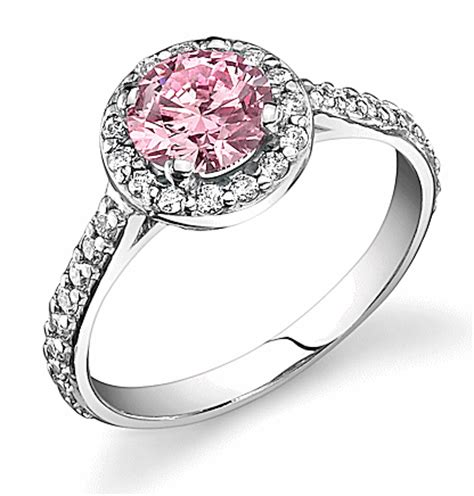 halo micropave ring with 79ct eternavista pink