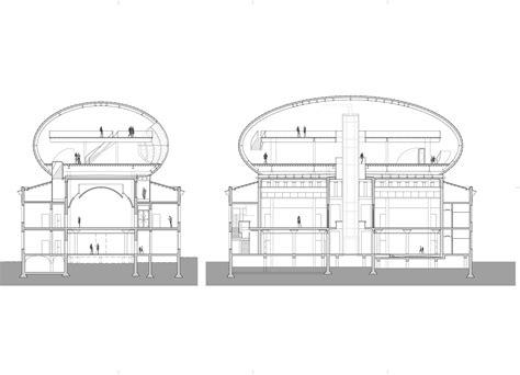 museum section museum de fundatie bierman henket architecten archdaily
