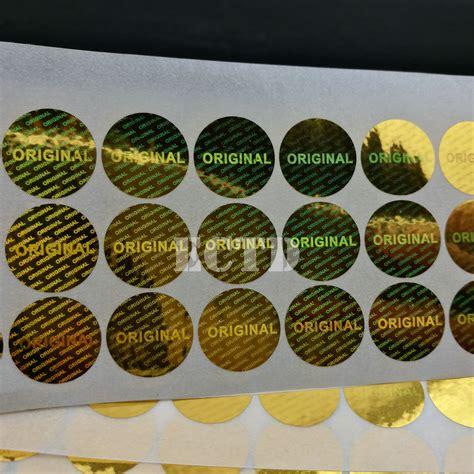 100 Original Temulawak Hologram Gold Embose 100pcs 15mm diameter gold original warranty seal laser hologram label sticker in stationery
