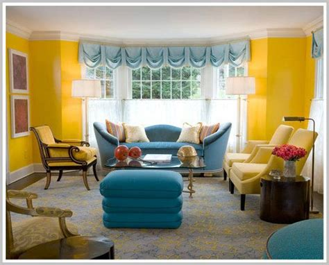 color psychology decorating  yellow blue yellow
