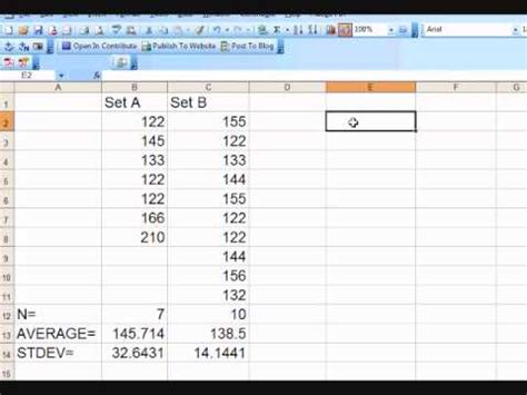 test t student how to calculate student s t statistic independent