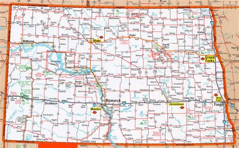 nd map maps of dakota