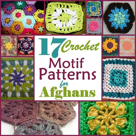 motif afghan pattern 17 motif crochet patterns for afghans
