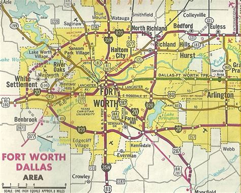 where is fort worth texas on a map new dallas fort worth freeways book free