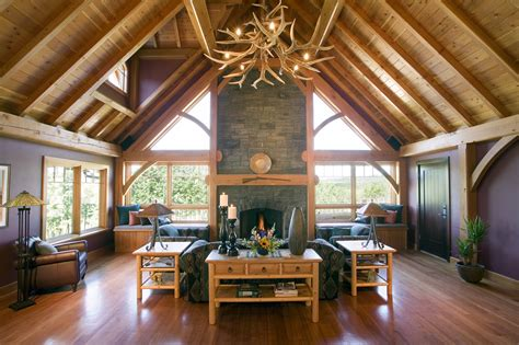 Ranch Style Home Interiors by Hamill Creek Timber Frame Houses Timber Frame Structures