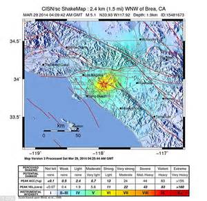 us geological survey earthquake map california california earthquake fears as 5 1 tremor rocks downtown