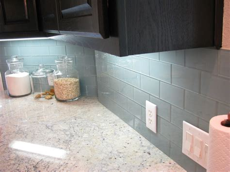 blue glass backsplash tile kitchen with my houzz