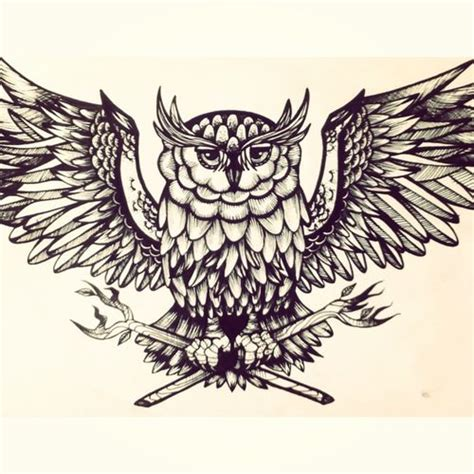great horned owl tattoo design ideas tattoo collection