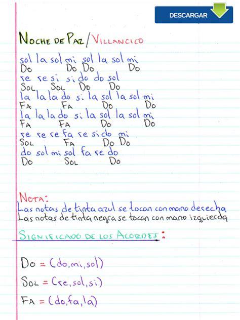tutorial piano noche de paz notas musicales noche de paz notas musicales video