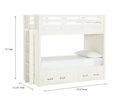 pb bunk beds belden bunk bed pottery barn
