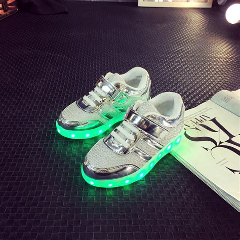children s shoes with lights fashion usb charging boys shoe led children s