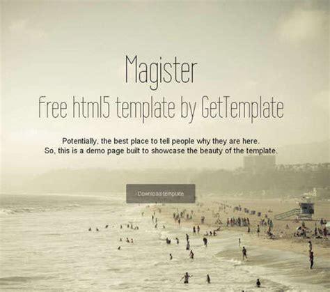 templates bootstrap magister 20 个免费的 bootstrap 模板 开源中国社区