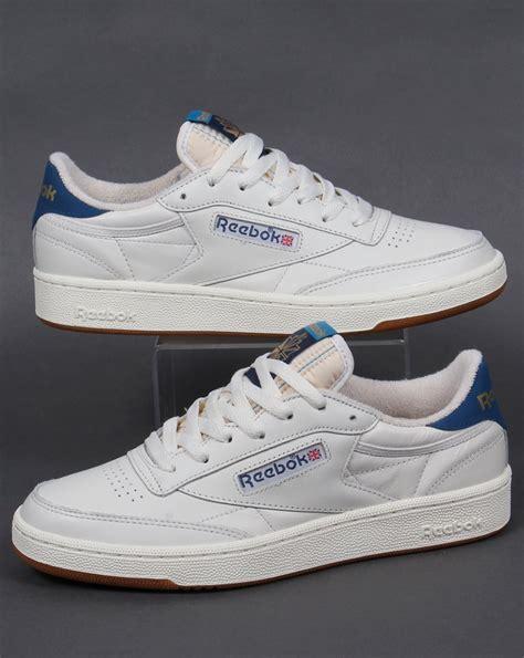 Jual Reebok Club C 85 reebok club 85 retro trainers chalk white blue shoe gum mens