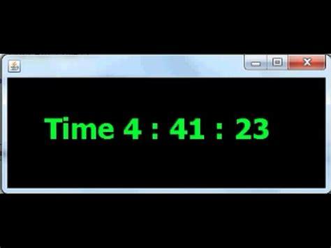 digital clock themes java making a digital clock in java netbeans part 1 3 youtube
