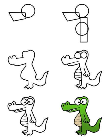 How To Draw Alligator