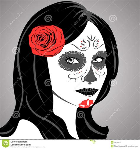 sugar skull lady stock image image 33783831