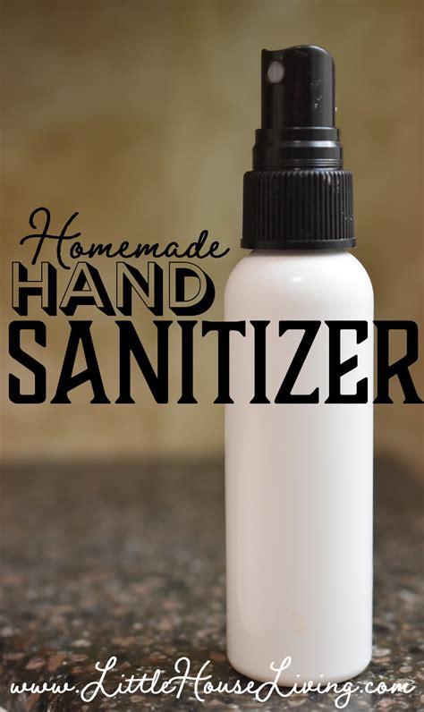 homemade hand sanitizer spray  essential oils   ingredients