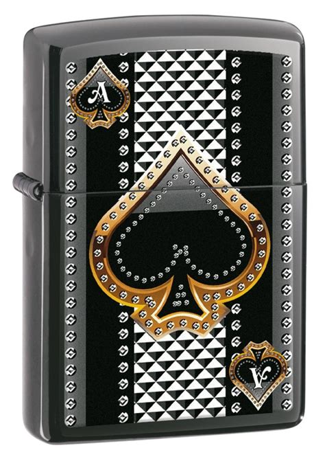 zippo ace of spades black stripes sybarite pipe