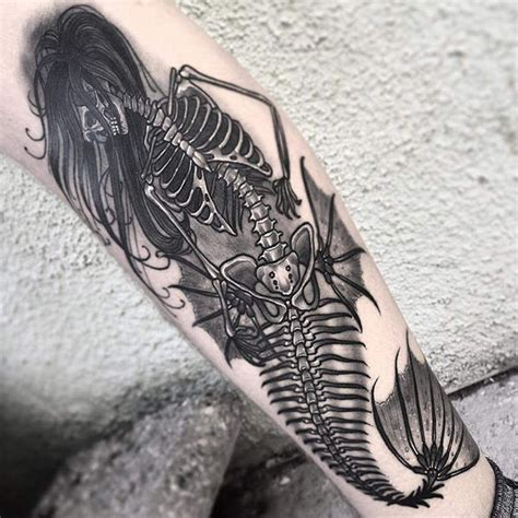 skeleton tattoo 61 dainty mermaid tattoos to flaunt this summer mermaid
