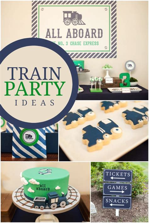 train themed birthday party ideas a boy s train themed birthday party spaceships and laser