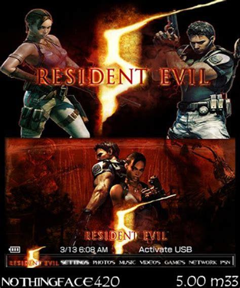 theme psp resident evil 4 resident evil 5 psp themes for 5 00 m33 171 psp news