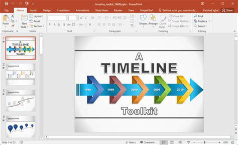 Best Powerpoint Templates Slides With Twisted Arrows Animated Timeline Maker